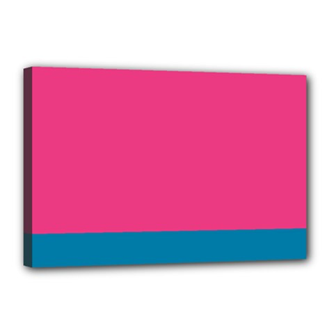 Flag Color Pink Blue Canvas 18  X 12  by Alisyart