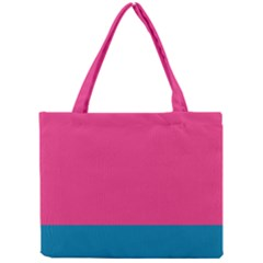Flag Color Pink Blue Mini Tote Bag by Alisyart