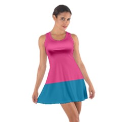 Flag Color Pink Blue Cotton Racerback Dress