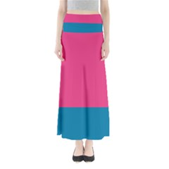 Flag Color Pink Blue Maxi Skirts by Alisyart