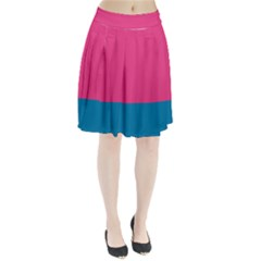 Flag Color Pink Blue Pleated Skirt