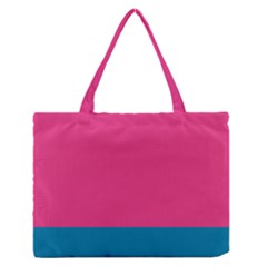Flag Color Pink Blue Medium Zipper Tote Bag by Alisyart