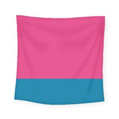 Flag Color Pink Blue Square Tapestry (small)