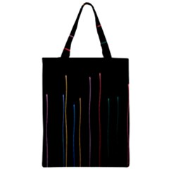 Falling Light Lines Color Pink Blue Yellow Zipper Classic Tote Bag by Alisyart