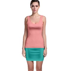 Flag Color Pink Blue Line Sleeveless Bodycon Dress