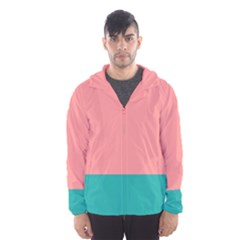 Flag Color Pink Blue Line Hooded Wind Breaker (men) by Alisyart