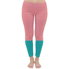 Flag Color Pink Blue Line Classic Winter Leggings