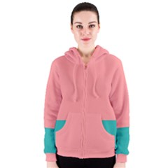 Flag Color Pink Blue Line Women s Zipper Hoodie