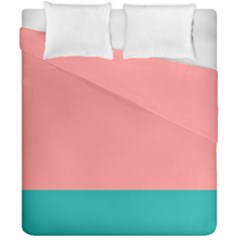Flag Color Pink Blue Line Duvet Cover Double Side (california King Size)