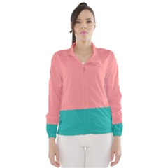 Flag Color Pink Blue Line Wind Breaker (women) by Alisyart