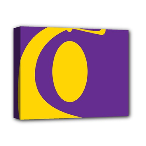 Flag Purple Yellow Circle Deluxe Canvas 14  X 11  by Alisyart