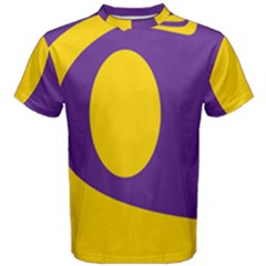 Flag Purple Yellow Circle Men s Cotton Tee