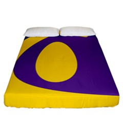 Flag Purple Yellow Circle Fitted Sheet (california King Size) by Alisyart