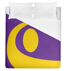Flag Purple Yellow Circle Duvet Cover (queen Size) by Alisyart