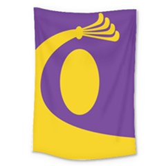 Flag Purple Yellow Circle Large Tapestry by Alisyart