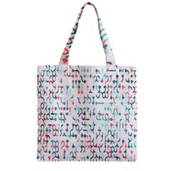 Connect Dots Color Rainbow Blue Red Circle Line Zipper Grocery Tote Bag by Alisyart