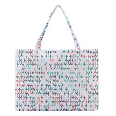 Connect Dots Color Rainbow Blue Red Circle Line Medium Tote Bag