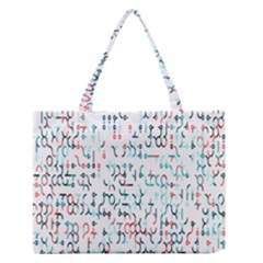Connect Dots Color Rainbow Blue Red Circle Line Medium Zipper Tote Bag