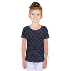 Scales1 Black Marble & Blue Leather Kids  One Piece Tee