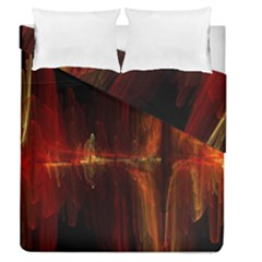 The Burning Of A Bridge Duvet Cover Double Side (queen Size) by designsbyamerianna