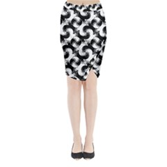 Birds Flock Together Midi Wrap Pencil Skirt by Simbadda
