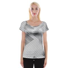 Design Grafis Pattern Women s Cap Sleeve Top by Simbadda