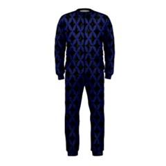 Circles3 Black Marble & Blue Leather Onepiece Jumpsuit (kids) by trendistuff