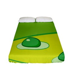 Food Egg Minimalist Yellow Green Fitted Sheet (full/ Double Size)
