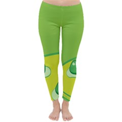 Food Egg Minimalist Yellow Green Classic Winter Leggings