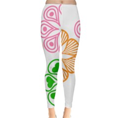 Flower Floral Love Valentine Star Pink Orange Green Classic Winter Leggings
