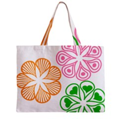 Flower Floral Love Valentine Star Pink Orange Green Zipper Mini Tote Bag by Alisyart