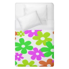 Flowers Floral Sunflower Rainbow Color Pink Orange Green Yellow Duvet Cover (single Size) by Alisyart