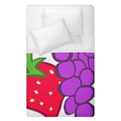 Fruit Grapes Strawberries Red Green Purple Duvet Cover (single Size) by Alisyart