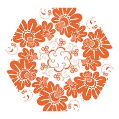 Floral Rose Orange Flower Mini Folding Umbrellas by Alisyart