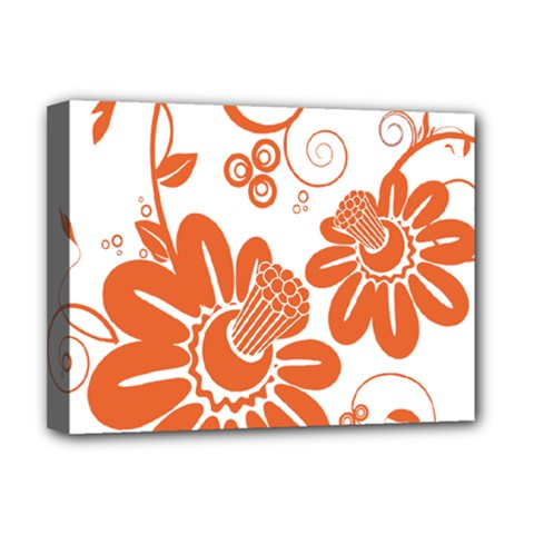 Floral Rose Orange Flower Deluxe Canvas 16  X 12