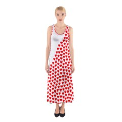 Heart Love Valentines Day Red Sign Sleeveless Maxi Dress
