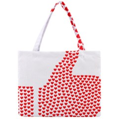 Heart Love Valentines Day Red Sign Mini Tote Bag by Alisyart
