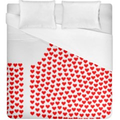Heart Love Valentines Day Red Sign Duvet Cover (king Size)