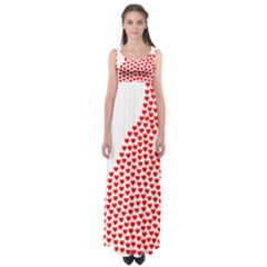 Heart Love Valentines Day Red Sign Empire Waist Maxi Dress