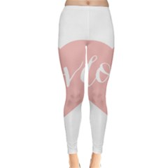 Love Valentines Heart Pink Classic Winter Leggings