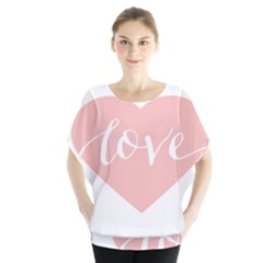 Love Valentines Heart Pink Blouse