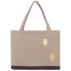Minimalist Circle Sun Gray Brown Mini Tote Bag
