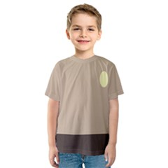 Minimalist Circle Sun Gray Brown Kids  Sport Mesh Tee