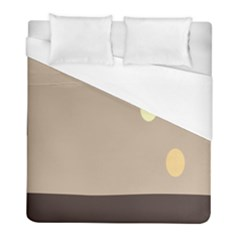 Minimalist Circle Sun Gray Brown Duvet Cover (full/ Double Size) by Alisyart
