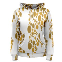 Map Dotted Gold Circle Women s Pullover Hoodie