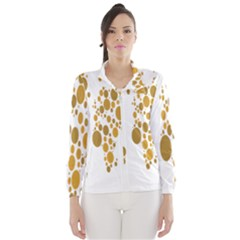 Map Dotted Gold Circle Wind Breaker (women)