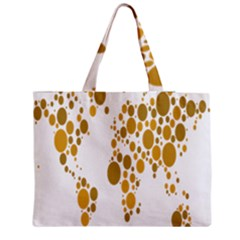 Map Dotted Gold Circle Medium Tote Bag by Alisyart