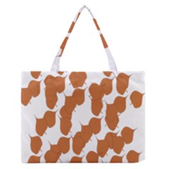 Machovka Autumn Leaves Brown Medium Zipper Tote Bag
