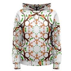 Floral Tree Leaf Flower Star Women s Pullover Hoodie