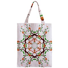 Floral Tree Leaf Flower Star Zipper Classic Tote Bag by Alisyart